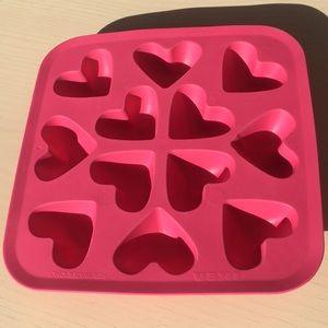 Heart ice cube mold
